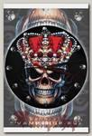 Часы настенные RockMerch Череп в короне