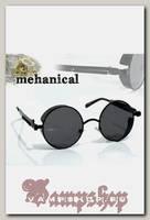 Очки солнцезащитные круглые Mechanical зеркальные с шорами