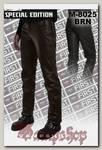 Штаны кожаные мужские First M-8025 BRN классические коричневые