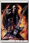 Плакат Скелет с гитарой