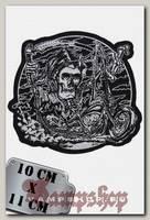 Термонашивка Смерть на мотоцикле