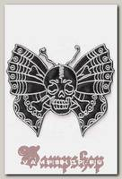 Термонашивка Череп-бабочка