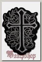 Термонашивка Крест и розы