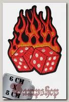 Термонашивка Dices on fire