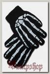 Перчатки детские зимние Скелет кисти