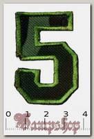 Термонашивка цифра 5