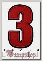 Термонашивка цифра 3