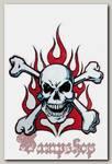 Наклейка-стикер Роджер в огне