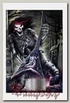 Тетрадь RockMerch Скелет-гитарист на кладбище
