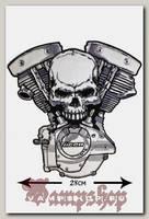 Термонашивка Черед с двигателем кожзам