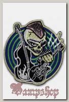 Термонашивка Череп с гитарой