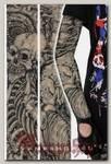 Тату-рукава Скелет с костяным эрокезом