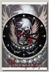 Часы настенные RockMerch Череп с розой