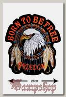 Термонашивка Born To Be Free большая