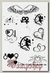 Переводная татуировка Сердечки