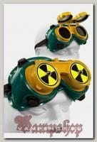 Кибер-очки гогглы Flip-Up Радиоактивная опасность с 2 шипами