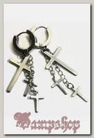 Серьги с подвеской Кресты