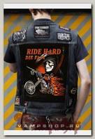 Нашивка Ride Hard Die Fast