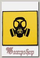 Термонашивка Biohazard с противогазом