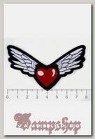 Термонашивка Сердце с крыльями