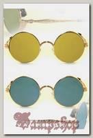 Очки солнцезащитные круглые Crisli зеркальные с шорами