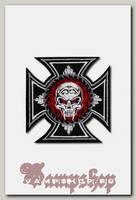 Термонашивка Железный крест с черепом