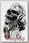 Переводная татуировка Череп и мушкет