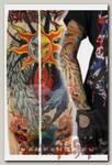 Тату-рукава Солнце луна и крылья