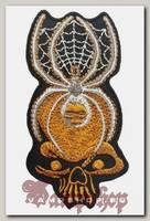 Термонашивка Череп с пауком