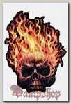 Наклейка-стикер Череп в огне