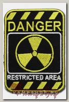 Термонашивка Danger Restricted area