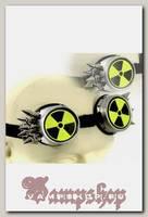 Кибер-очки гогглы Радиация с 10 шипами
