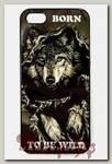 Чехол RockMerch для Apple iPhone Born to be wild с волком